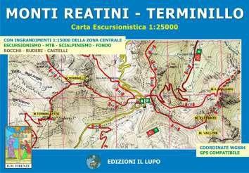 Monti Reatini - Terminillo 1:25.000