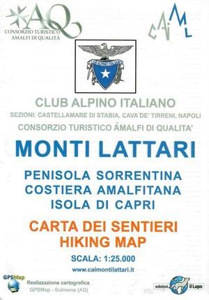 Monti Lattari - Penisola Sorrentina - Costiera Amalfitana - Isola Di Capri 1:25.000