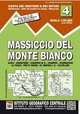 4 Massiccio Del Monte Bianco 1:50.000