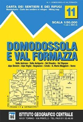 11 Domodossola E Val Formazza 1:50.000