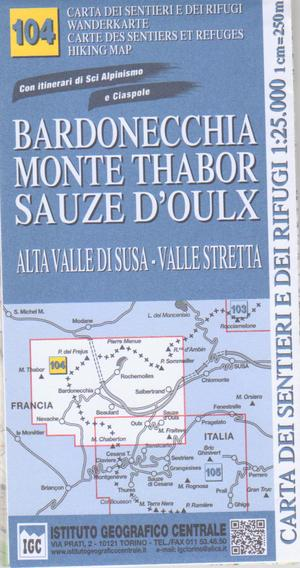 104 Bardonecchia, Monte Thabor 1:25.000