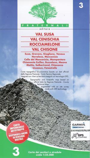 3 Val Susa Chisone Fraternali 1:25.000