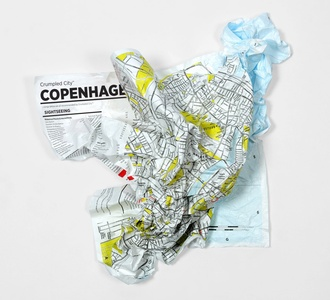 Copenhagen Crumpled City Map