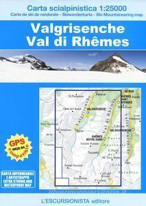 Valgrisenche - Val di Rhêmes 1:25.000 skikaart watervast