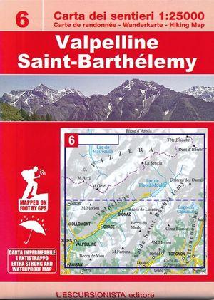 06 Valpelline, Saint-Barthélemy 1:25.000 wandelkaart