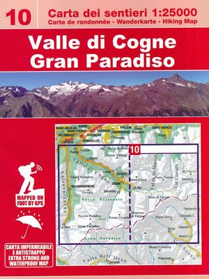 10 Valle di Cogne, Gran Paradiso wandelkaart