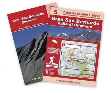 05 Gran San Bernardo Valle di Ollomont 1:25.000 wandelkaart + gids