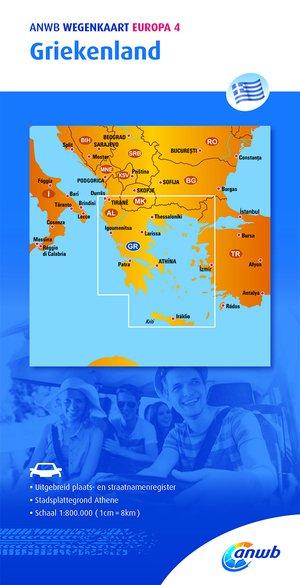 ANWB wegenkaart Europa 4 Griekenland