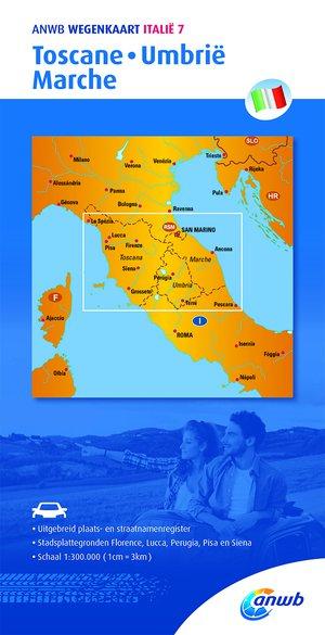 ANWB wegenkaart Italië 7. Toscane,Umbrië,Marche