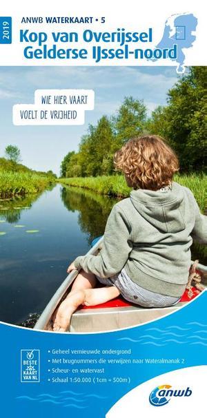 Waterkaart 5 Kop van overijssel, Gelderse IJssel-noord 2019