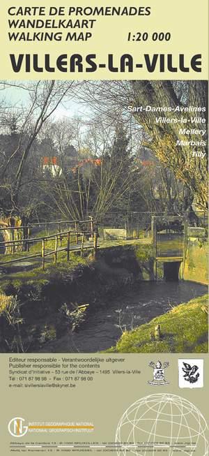 Villers-la-Ville wandelkaart