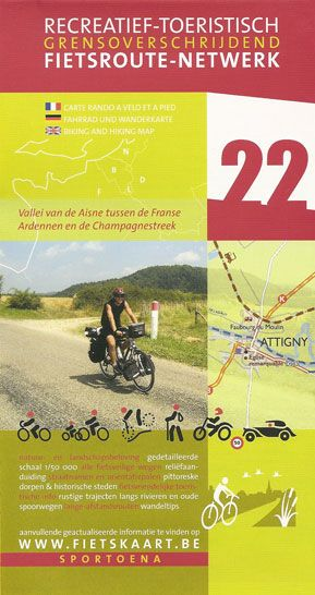 Aisne Valley 22 Biking Hiking Map