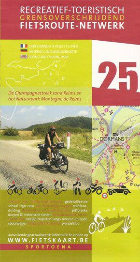 Champagne 25 Biking Hiking Map Reims