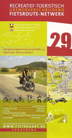 Laon Reims 29 Biking Hiking Map Dep Aisn