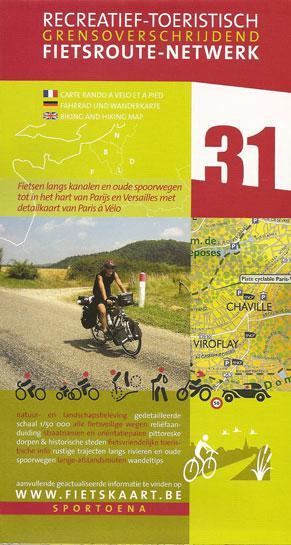 Paris Surroundings 31 Biking Hiking Map