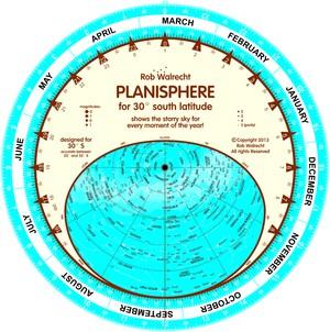 Planisfeer voor 30° ZB ENG