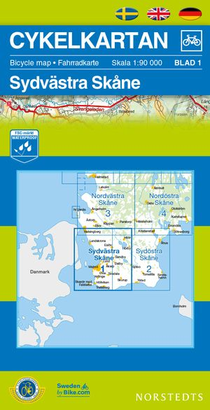 Skane South West Cycling Map