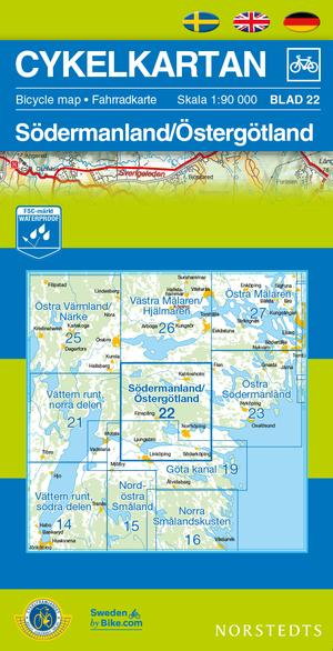 Sodermanland/ostergotland Cycling Map