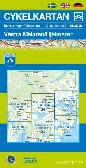 Malaren West/hjalmaren Cycling Map