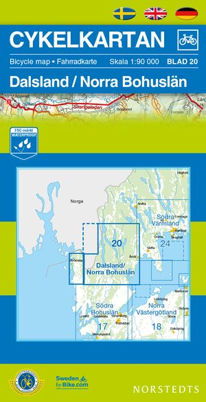 Dalsland/bohuslan North Cycling Map
