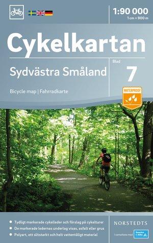 Smaland Zuidwest fietskaart