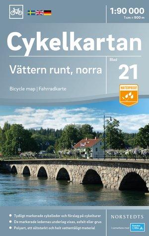 Vättermeer Noord fietskaart
