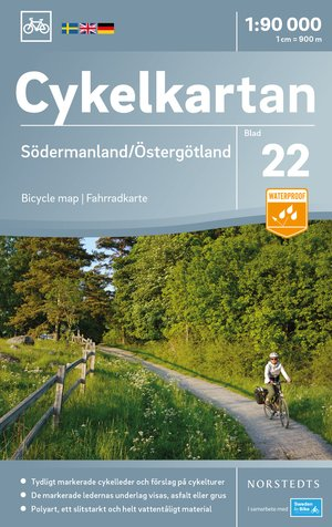 Södermanland / Östergötland fietskaart