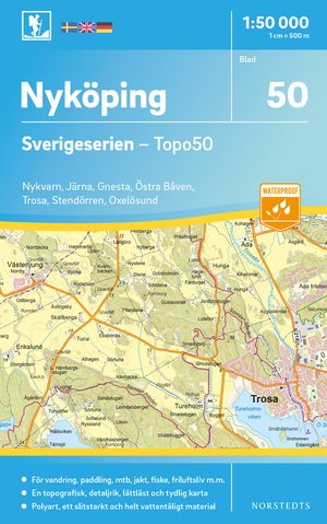 50 Nyköping wandelkaart