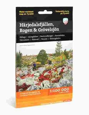 Harjedalsfjallen Rogen Grovels 1:100.000