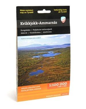 Kvikkjokk, Ammarnas & Arjeplog 1:100.000