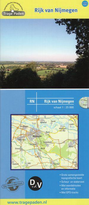 Topografische wandelkaart Rijk van Nijmegen