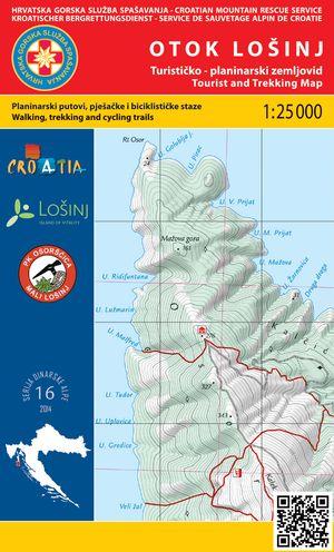 16 Otok Losinj 1:25.000 Dinarske Alpe