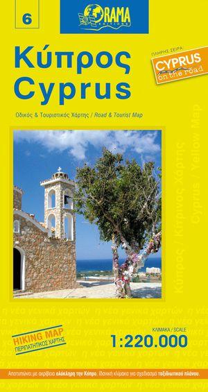 Cyprus Yellow Map
