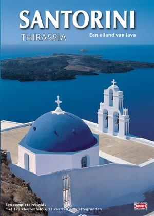 Santorini Thirassia Een Eiland Van Lava