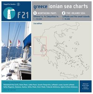 Ionian Sea Charts F21 Waterkaart