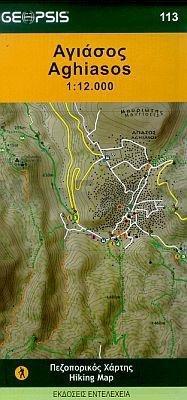 Aghiasos Hiking Map Lesbos Geopsis 1/12