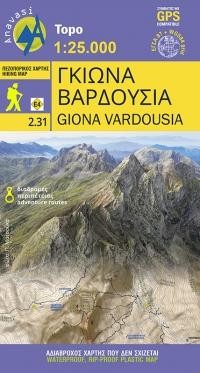 2.31 Giona - Mt Vardousia wandelkaart