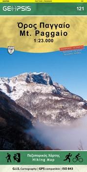 Mt. Paggaio 1:23d Wandelkaart Geop.121
