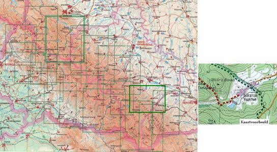 Karpaten: Kosivskyi Raion 1:50.000