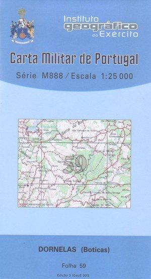 Igeoe 59 Dornelas (boticas) 1:25.000