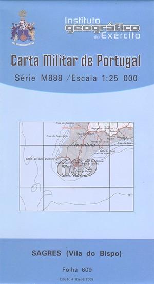 609 Sagres (vila Do Bispo) Topographische Landkarte Portugal 1:25.000