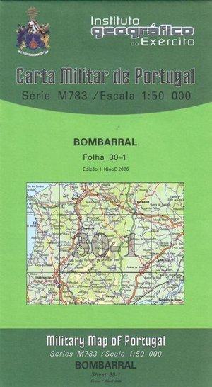 30 I Bombarral Topographische Landkarte Portugal 1:50.000