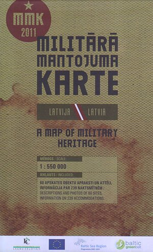 Military Heritage Map Latvia 1:550.000