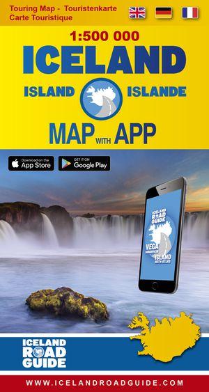 Ijsland toeristische kaart + APP
