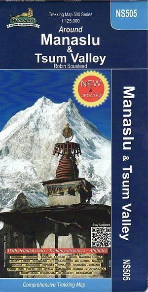 Around Manaslu & Tsum Valley trekking map NS505