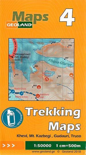 04 Khevi, Mt. Kazbegi, Gudauri, Truso Trekking Map