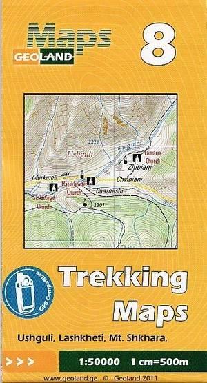 08 Ushguli, Lashkheti, Mt. Shkhara Trekking Map