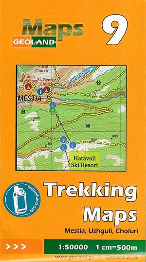 09 Mestia, Ushguli, Choluri Trekking Map