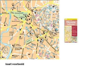 Nicosia Street Map 1/11.000 Selas