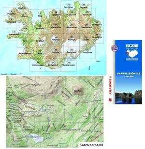 Atlaskort 3 Snaefellsjökull